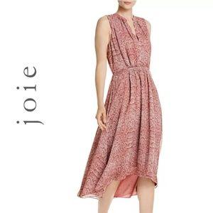 Joie Hilarie Sleeveless Snakeskin-Print Dress